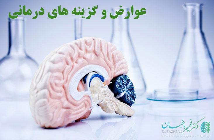 عوارض و گزینه های درمان ادم مغزی